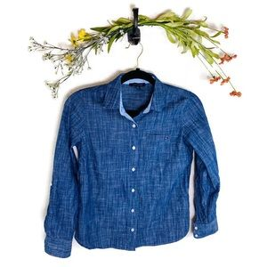 5 for $30 Tommy Hilfiger Chambray Button Down XS
